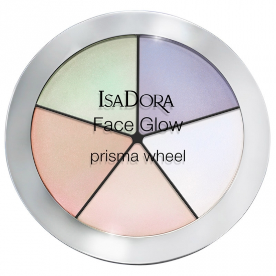 IsaDora Face Glow Prisma Wheel Rainbow Highlights