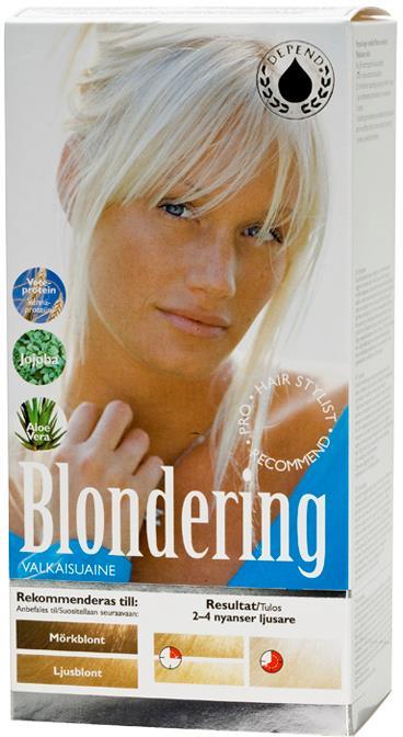 Depend Blondering for Morkblondt ljusblont Har